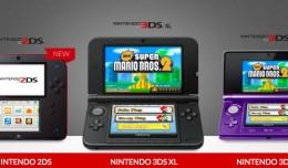 Les écrans de la 2DS sont plus petits que ceux de la 3DS XL
