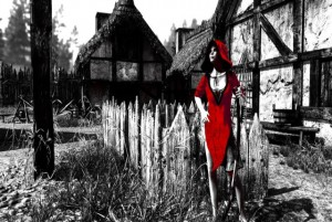 Betrayer Sortie Logo Red Woman