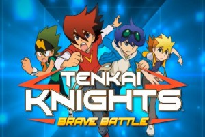 Tenkai Knights Brave Battle Review 3DS Logo