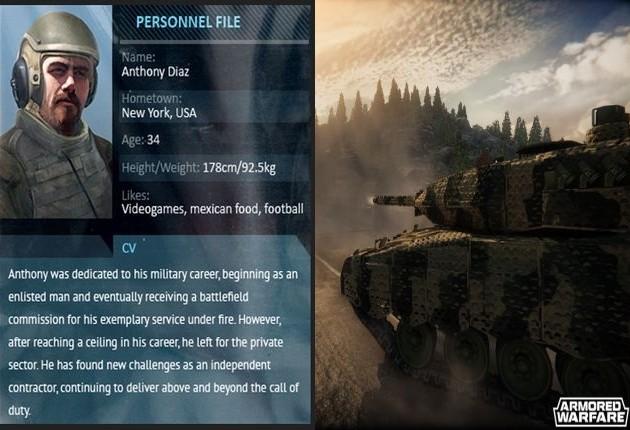 anthony diaz armored warfare