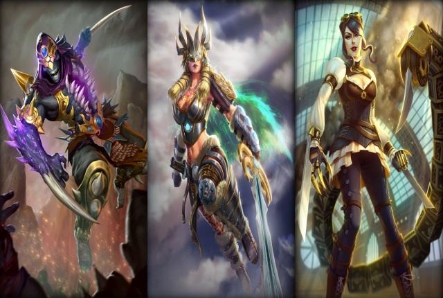 Win Bakasura (+Ravenous'Skin), Freya (+Valkyria'Skin) and Serqet (+ Madame Blade'Skin) Image