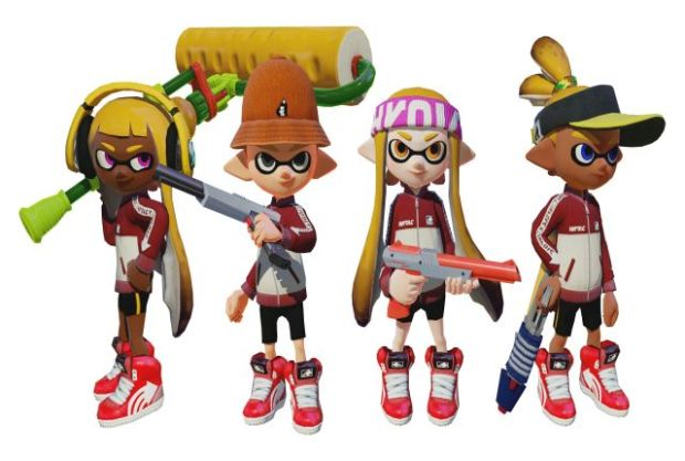 Splatoon big update screen team