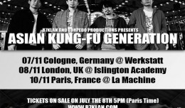 asian kung fu generation tournée europe 2015