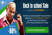 Ubisoft back to school sale logo