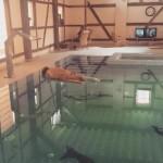 Avant d'atteindre les bornes de jeu et tester le soft, différents parcours de survie s'offraient à vous... mention spéciale pour la piscine