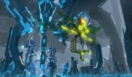 skyforge invasion mécanoÏde screen logo