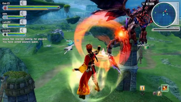 Sword Art Online Lost Song Gameplay Screen 6