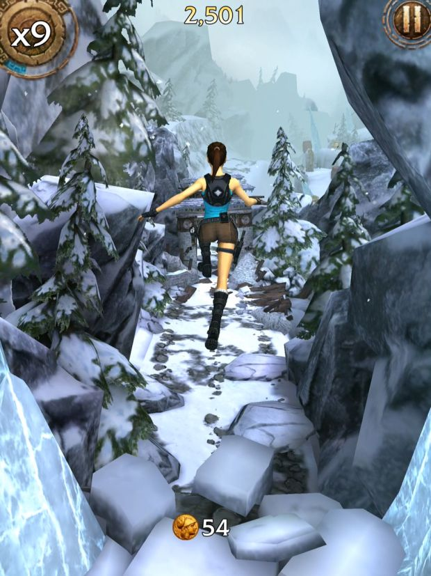 lara croft relic run col de la montagne screen 2
