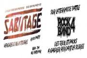 sabotage rock party logo