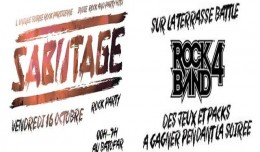 sabotage rock party logo