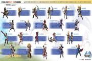 Final Fantasy Explorers Infographie Classes logo