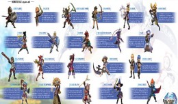 Final Fantasy Explorers Infographie Classes logo