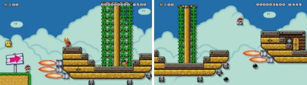 Super Mario Maker Airship Raid