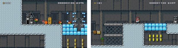 Super Mario Maker Flaming Ice Castle