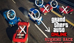 grand theft auto online running back mode screen logo