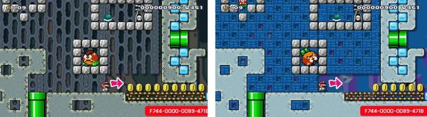 super mario maker wet and dry