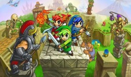 the legend of zelda tri force heroes test review logo