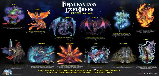 Final Fantasy Explorers Eidolon Invocation Screen 1