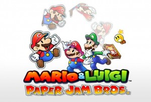 Mario & Luigi Paper Jam Bros 3DS Test Review Screen logo