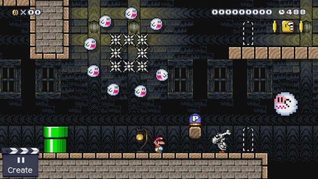 Super Mario Maker ghosthouse_bluedoor-off