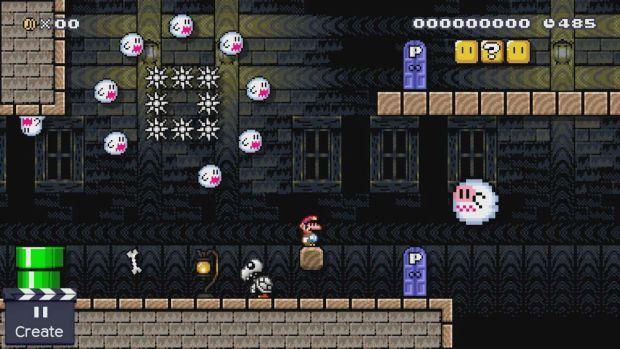 Super Mario Maker ghosthouse_bluedoor-on