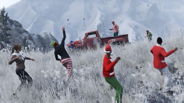 gta online suprise festive 2015 boule de neige
