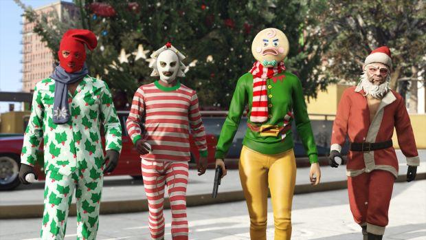 gta online surprise festive noel masques