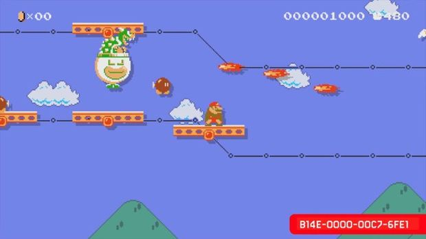 super mario maker chase among the clouds