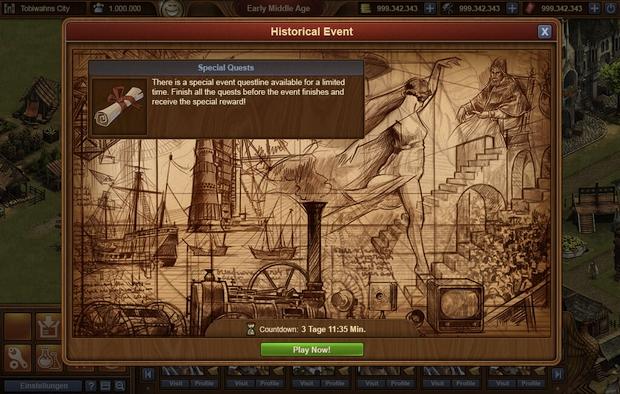 événement historique forge of empires