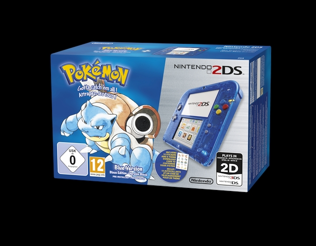 Nintendo 2DS Blue Tortank Pokeomon
