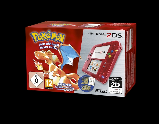 Nintendo 2DS Red Dracaufeur Pokemon