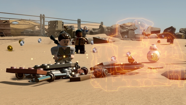 lego star wars force awakens gameplay screen 2