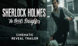 sherlock holmes the devil's daughter trailer logo