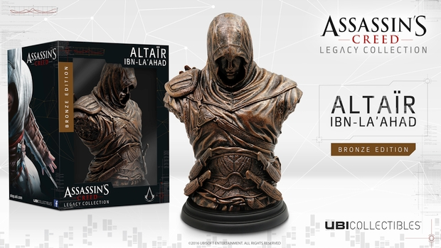 Assassin's Creed Altair bronze bust packaging