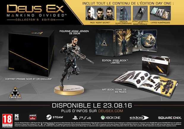 deus ex mankind divided collector's edition figurine adam jensen final