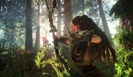 horizon zero dawn gameplay forest logo