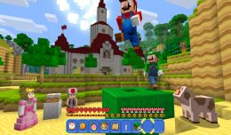 Minecraft Wii U Mashup Pack Mario Screen Logo