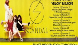 scandal yellow tour 2016 datum
