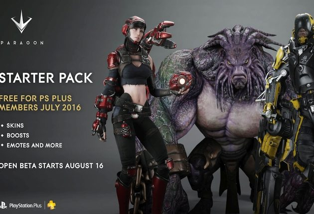 paragon starter pack free playstation plus members
