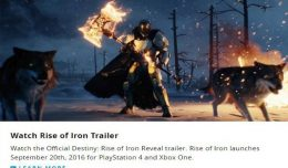 rise of iron destiny leak date de sortie