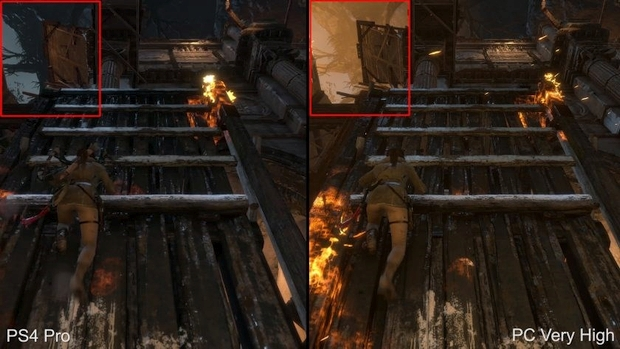rise of the tomb raider ps4 pro lighting