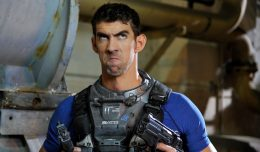 LONG BEACH, CA - SEPTEMBER 17:  Olympian Michael Phelps films Live Action scenes for Call of Duty: Infinite Warfare on September 17, 2016 in Long Beach, California.  (Photo by John Sciulli/Getty Images for Activision)