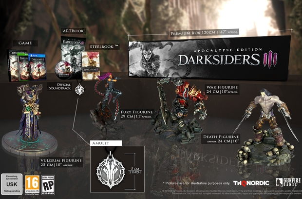 Darksiders 3: Edition Apocalypse avec 4 figurines pour le ...
