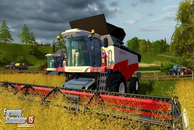 farming simulator 15 conduire une moissonneuse avec un volant ferrari a c est fait n. Black Bedroom Furniture Sets. Home Design Ideas