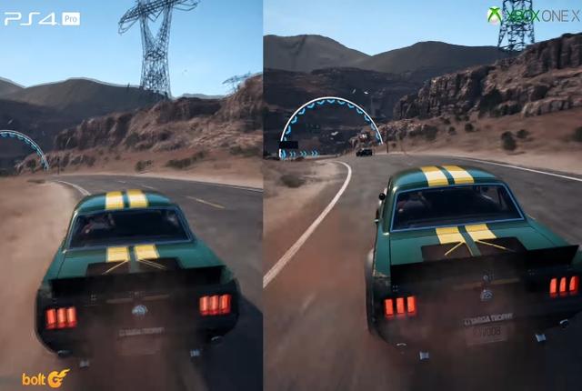 NFS Payback 4K sur Xbox One X contre\u2026 1440p sur PS4 Pro
